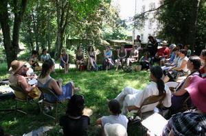 Vide-chansons lors du festival du Bouche à Oreille à Parthenay